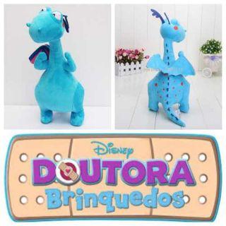 Pelúcia Grande Doutora Brinquedos Felpudo Dragão Azul