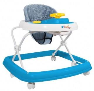 Andador Infantil azul Carrinho E Volante - Styll Baby