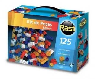 Blocos De Montar 125 Peças Brinquedo Educativo Rasti