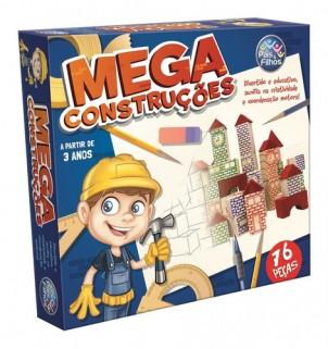 Blocos de Montar Mega Construções Engenheiro 76 Peças Mdf