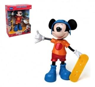 Boneco Mickey Radical Skatista Disney Musical