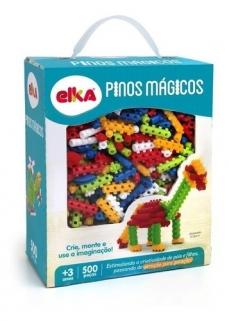 Pinos Mágicos Brinquedo De Montar 500 Original Elka