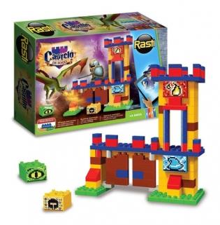 Brinquedo Educativo Blocos de Montar Castelo De Fogo 250 Rasti