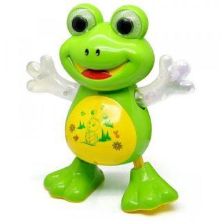 Brinquedo Para Bebês E Crianças 3 Anos Sapinho Musical Luzes