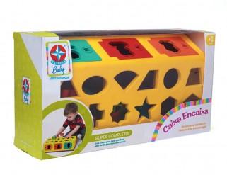 Brinquedo Educativo Caixa Encaixa Formas Geométricas - Estrela