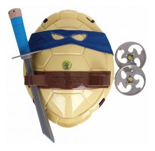 Fantasia Infantil Tartarugas Ninja Leonardo Bandana Azul e acessórios