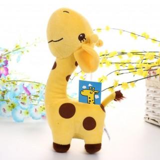 Girafa de pelúcia amarela
