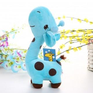 Girafa de pelúcia azul