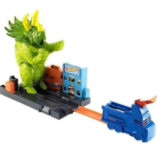 Hot Wheels Ataque Do Triceratops Dinossauro City Mattel
