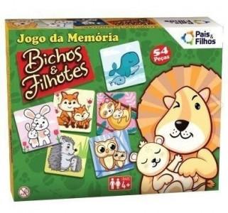 Jogo da Memoria  Bichos e Filhotes Pais E Filhos
