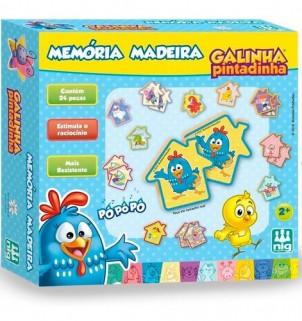 Jogo Da Memória Galinha Pintadinha Brinquedo Madeira