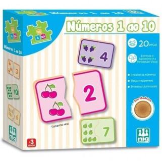Jogo Pedagógico Numeros 1 A 10 Brinquedo Educativo Madeira