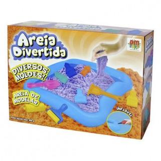 Massinha Areia Divertida Caixa Castelinho Modelar Com Moldes