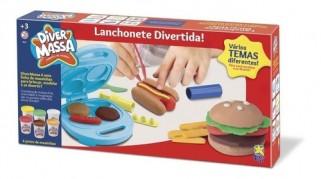 Massinha De Modelar Diver Lanchonete Hambúrguer Brinquedo