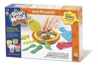 Massinha De Modelar Fazendo Pizza Brinquedo Pizzaiolo Diver