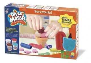 Massinha De Modelar Sorveteria Diver Massa Sorvete Brinquedo