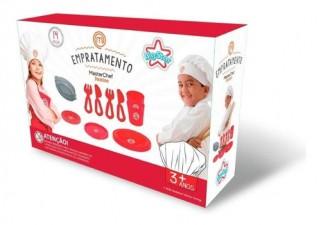 Masterchef Brinquedo Empratamento Cozinha Infantil Pratos e Talheres - Big Star