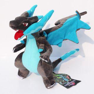 Mega Charizard X Azul e Cinza articulado Pokemon raro