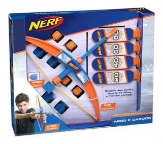 Nerf Lançador Arco e Fecha Brinquedo - Elka Brinquedos