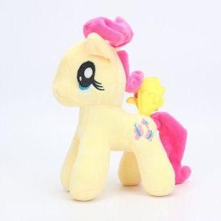 Pelúcia Pônei Amarela Unicornio My Little Pony Fluttershy