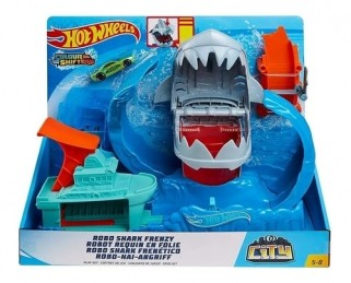 Pista Hot Wheels City Robô Tubarão Brinquedo Mattel