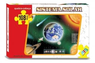 Quebra Cabeça Educativo Sistema Solar brinquedo Planetas Ciências