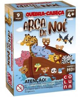 Quebra Cabeça Infantil Arca De Noé 9 Peças em Madeira