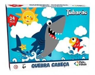 Quebra Cabeça Infantil Tubarão Brinquedo Criança 24 Pçs