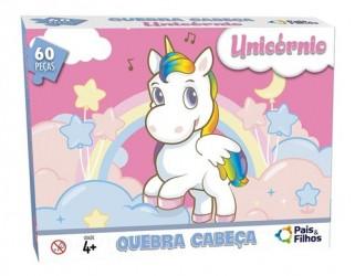 Quebra Cabeça Infantil Unicórnio Brinquedos Crianças 60 Pçs