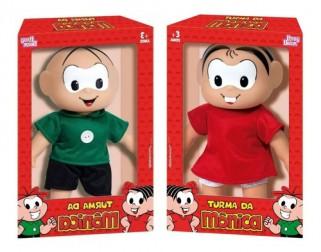 Turma Da Mônica Mônica + Cebolinha Kit Brinquedos Original