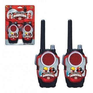Walkie Talkie Infantil Rádio Comunicador Brinquedo Bombeiro
