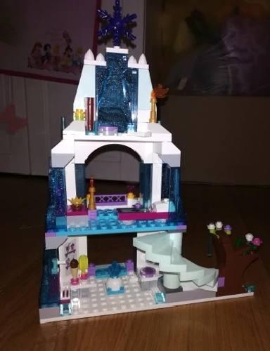 Castelo de Gelo Princesas Frozen Ana Elsa e Olaf - Brinquedo Blocos de Montar