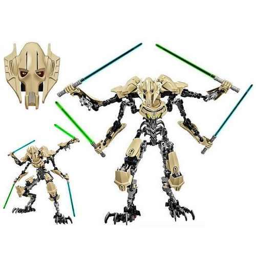 Boneco Star Wars 25 Cm General Grievous 4 Sabres De Luz