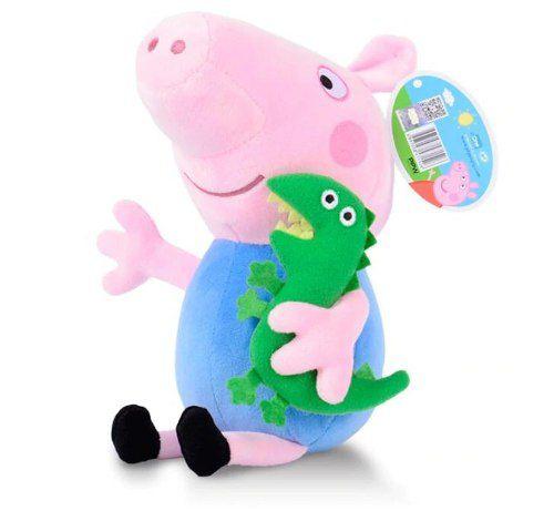 Brinquedo Para Bebê Pelúcia Pepa Pig George E Dinossauro
