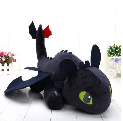 Pelúcia Treinar Seu Dragão Brinquedo Disney Banguela Furia da Noite