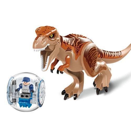 Dinossauro Marrom Carro Bola Articulado Jurassic World