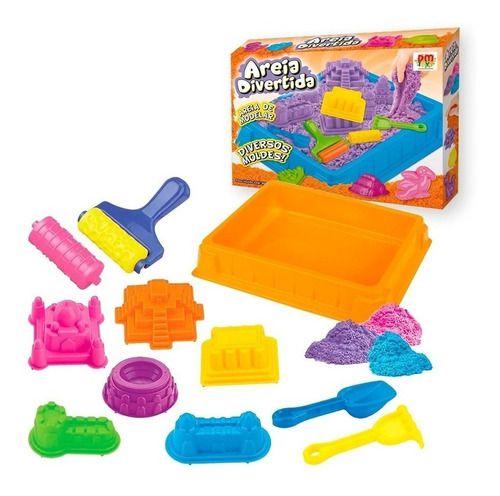 Areia Mágica Massinha De Modelar Presente Crianças 4 Em 1