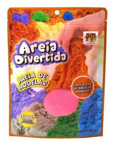 Kit 3 Massinha Areia Mágica Sand Divertida Cores Sortidas