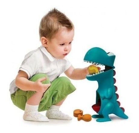 Brinquedo Para Bebê Dino Papa Tudo Com Acessórios - Elka