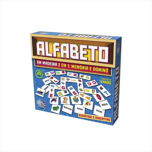 Jogo Educativo Pedagógico Alfabeto Formando Palavras Madeira