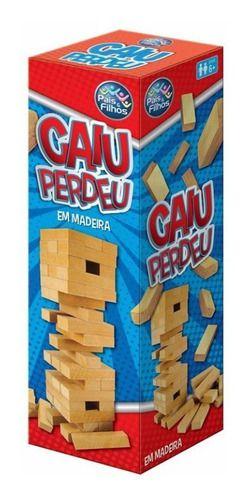 Jogo Caiu Perdeu Torre De Madeira Brinquedos Infantil