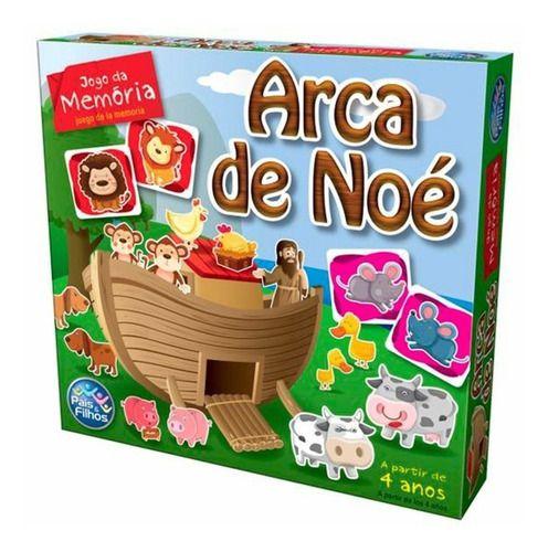 Jogo Memória Infantil Arca de Noé Brinquedo