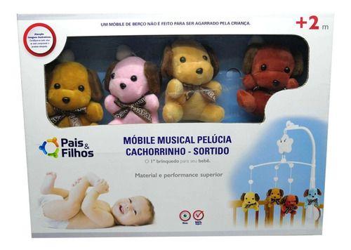 Móbile Musical Para Berço Pelúcia Cachorrinho
