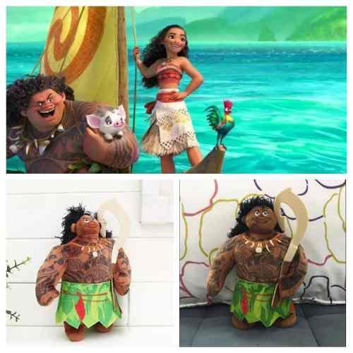 Pelúcia Moana Mauí Princesa Disney Chefe Maui Pelúcia