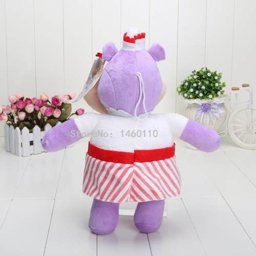 Pelúcia Grande Doutora Brinquedos Hellie Hipopotamo Roxa
