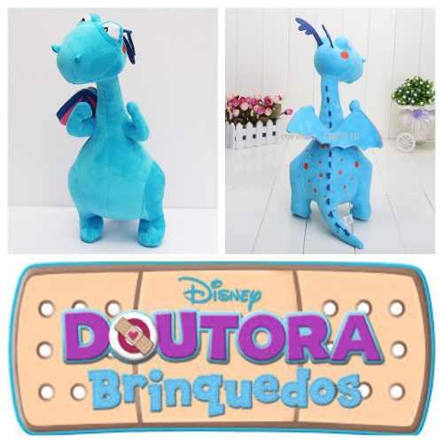 Pelúcia Doutora Brinquedos Felpudo Dragão Azul