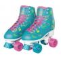 Patins 4 rodas roller infantil Love Azul Turquesa menina