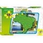 Quebra Cabeça Infantil Brinquedo Educativo Mapa Do Brasil Geografia