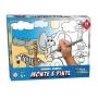 Quebra Cabeça Infantil Kit Pintura Brinquedo Educativo