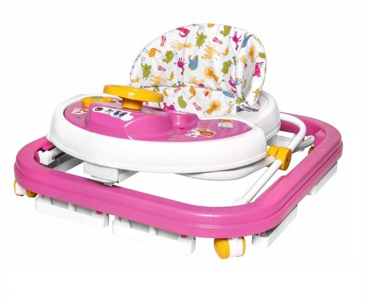 Andador infantil musical Rosa Carrinho e Volante - Styll Baby